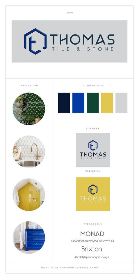 Thomas Tile & Stone Brand Board