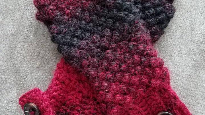 Raspberry Stitch Fingerless Mittens