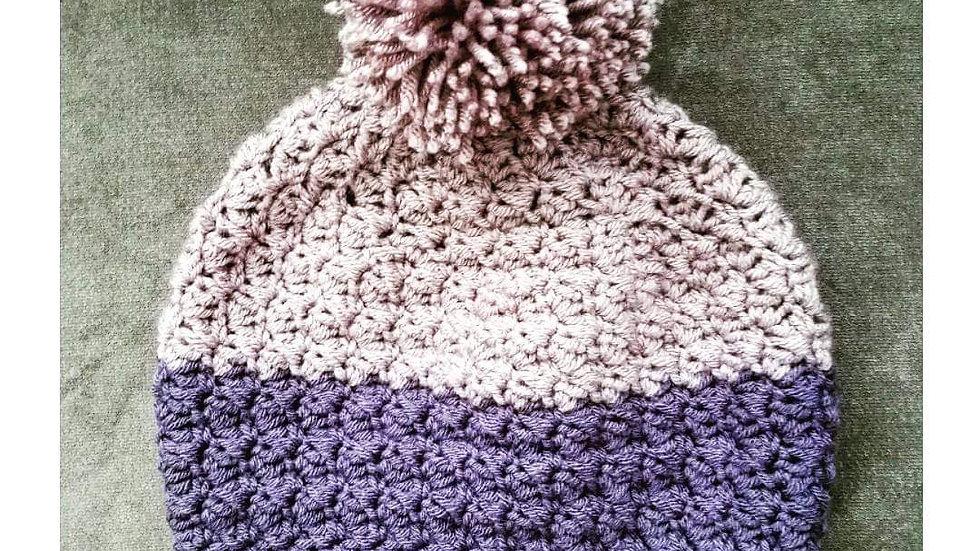 Suzette Beanie (yarn pompom)