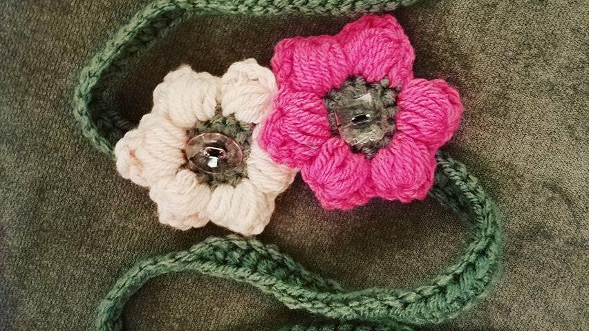Puff Flower headband