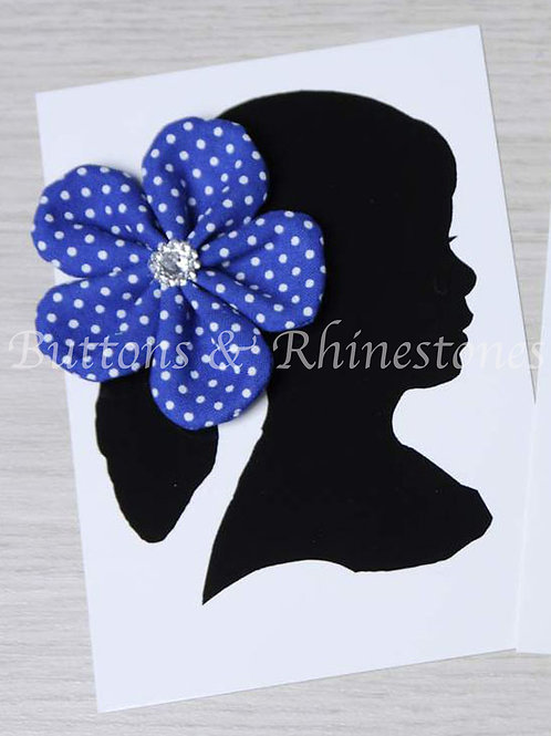 Large fabric flower clip or barrette