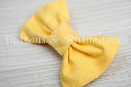 Fabric hair bow barrette