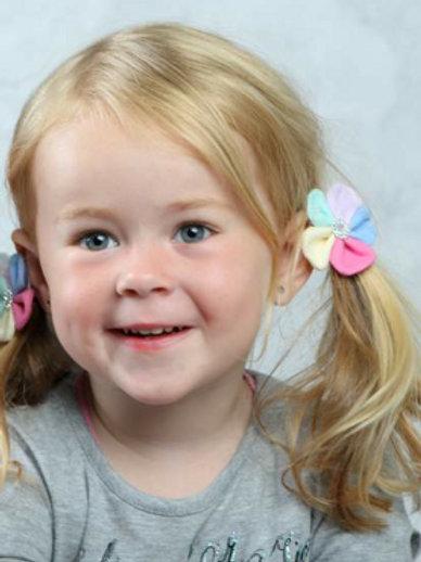 2 pcs Hair flowers - bobbles