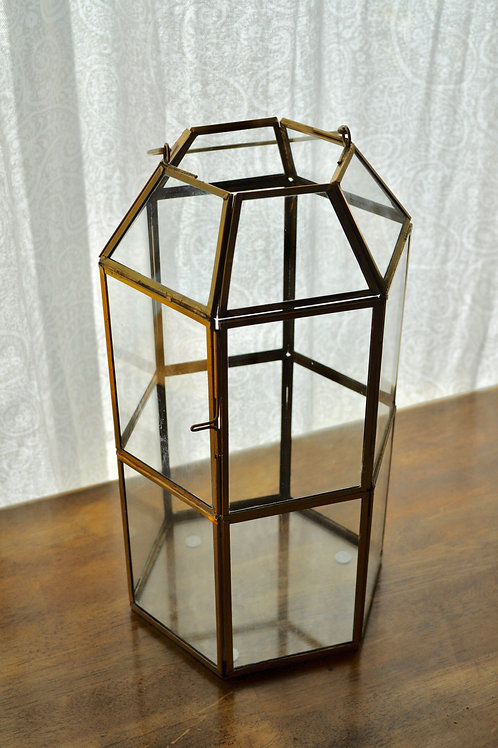 Gold Hexagon Lantern
