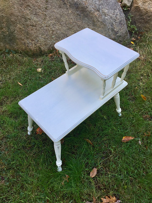 White Distressed Table