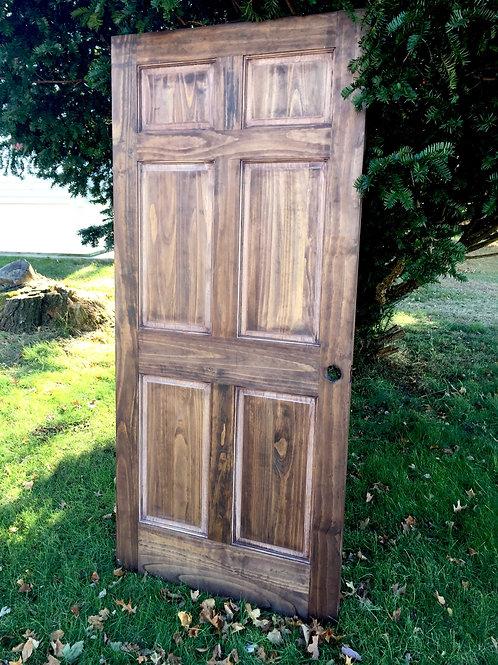 Brown Distressed Door