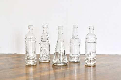 Small Clear Vintage Vases