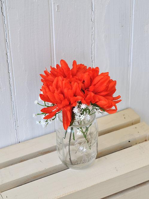 Red-Orange Mums