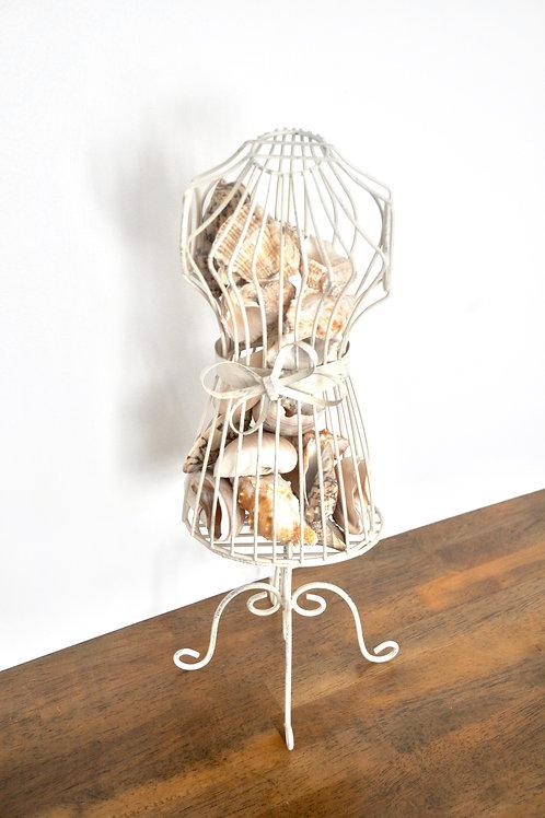 Tabletop Seashell Dress Mannequin