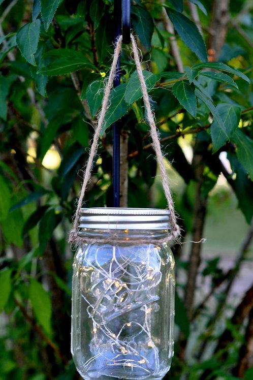 Twinkle Light Hanging Mason Jars