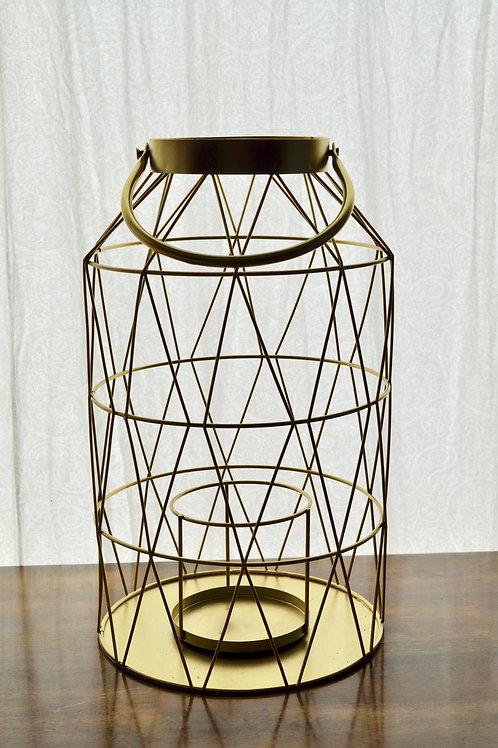 Large Gold Wired Lanterns