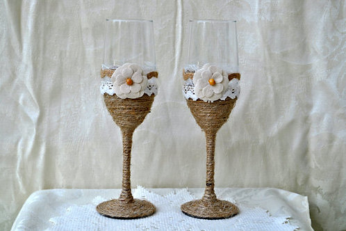 Twine Flower Toasting Glasses