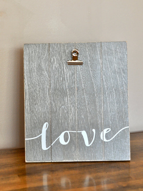 Love Picture Frame Sign