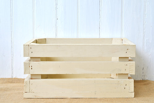 Ivory Wooden Crate