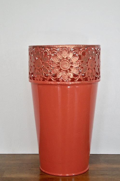 Coral Metal Vase