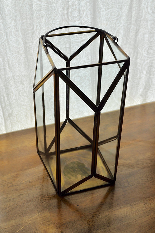Gold Rectangle Lantern Small