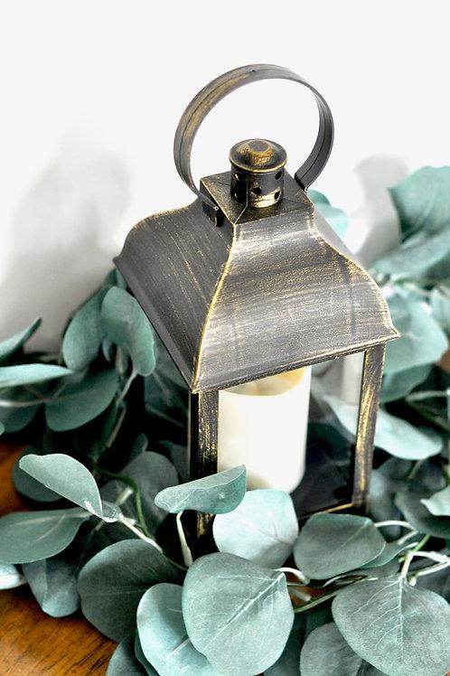Bronze Lantern w/ Candle