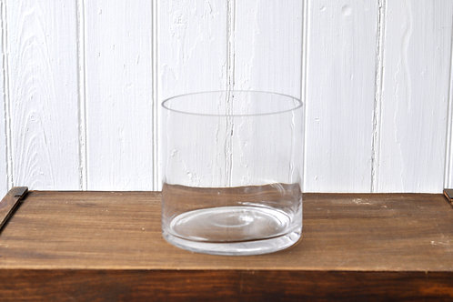 Wide Glass Vase