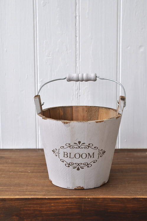 Bloom Wooden Basket