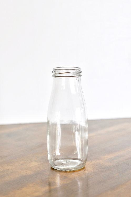 Clear Milk Bottle Vases