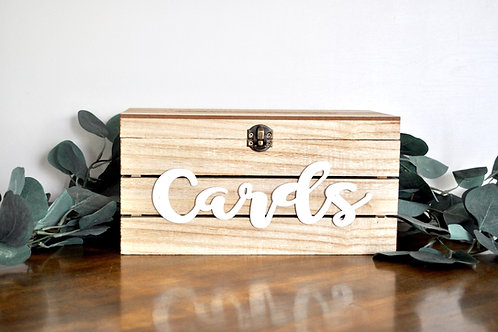 Wood and White Card Box