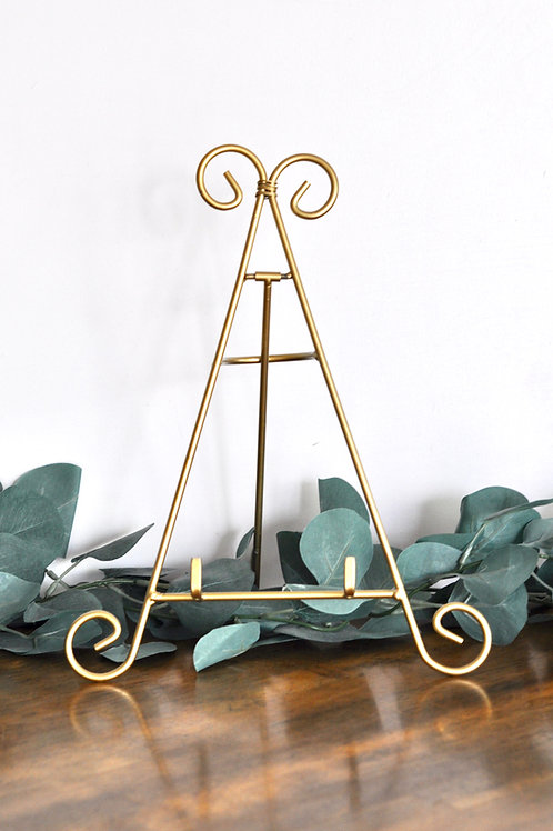 Gold Tabletop Easel