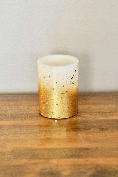Gold Pillar Candles- Small