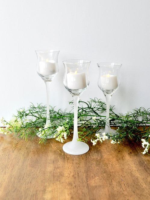 Mini Wine Glass Tealight Candle Holders