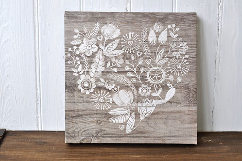 Floral Heart Canvas