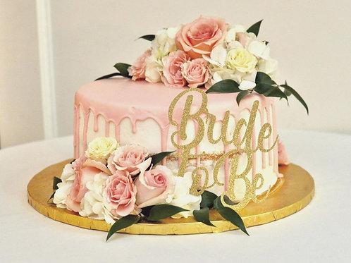 Glitter Cardstock Cake Topper