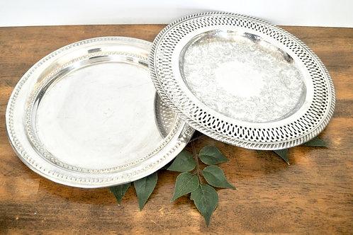 Antique Silver Plates