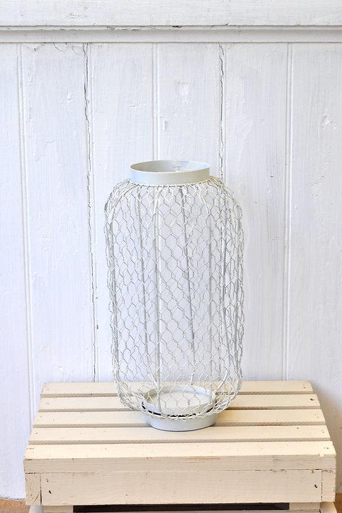White Chicken Wire Lantern