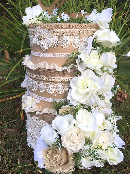 Floral Three Tiered Card Box