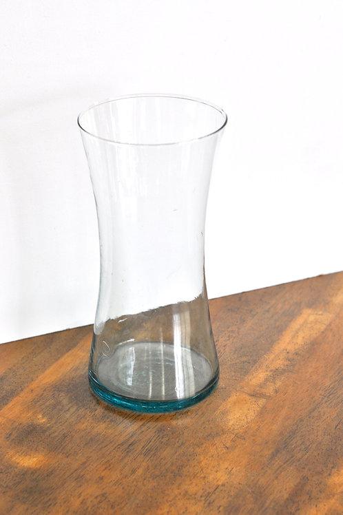 Blue Tinted Tall Vase