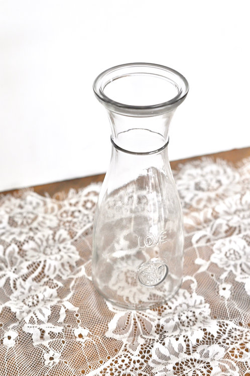 Clear Love Vases