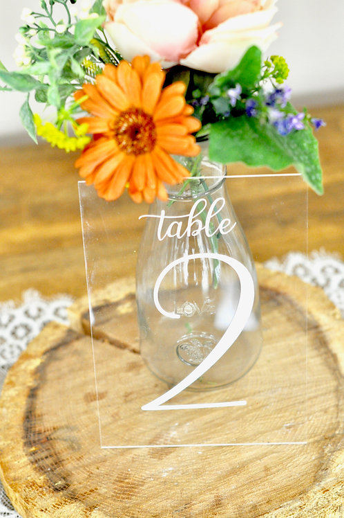 Acrylic Vertical Table Numbers