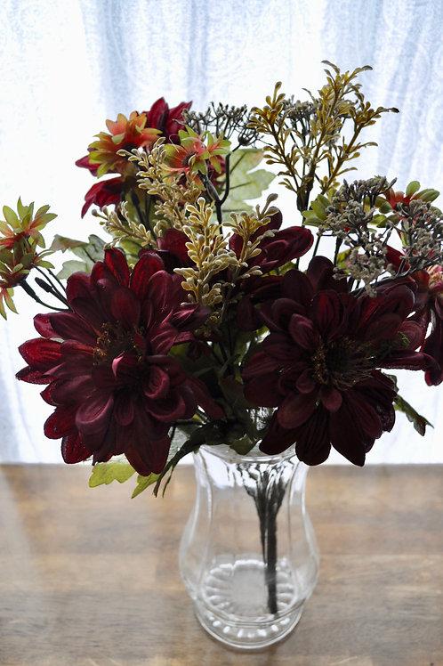 Burgundy Mums Bouquet