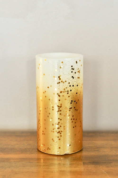 Gold Pillar Candles- Large