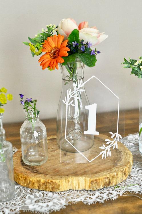 Greenery Acrylic Table Numbers