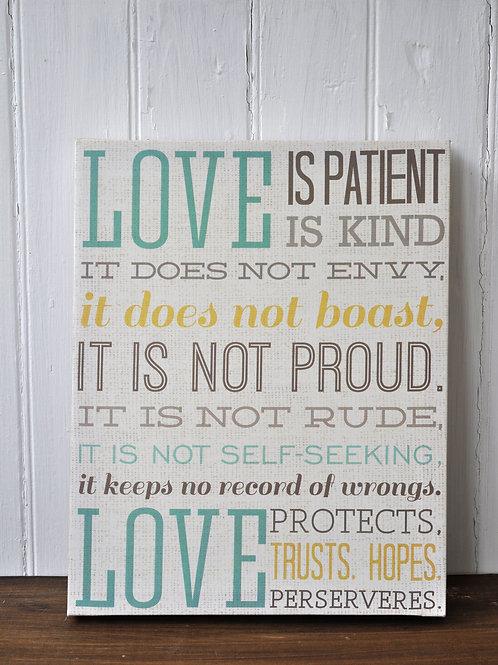 1 Corinthians 13 Canvas