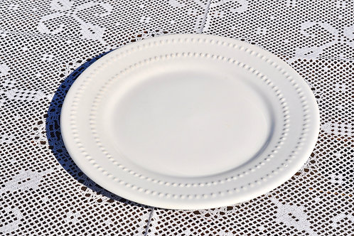 Dotted White Dinner Plates