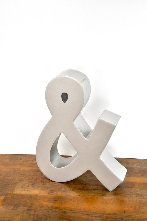 Silver Ampersand