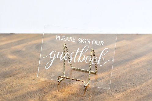 Acrylic Guestbook Sign
