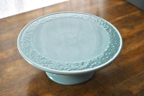 Turquoise Cake Platter