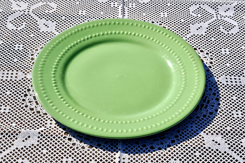 Dotted Green Dinner Plates