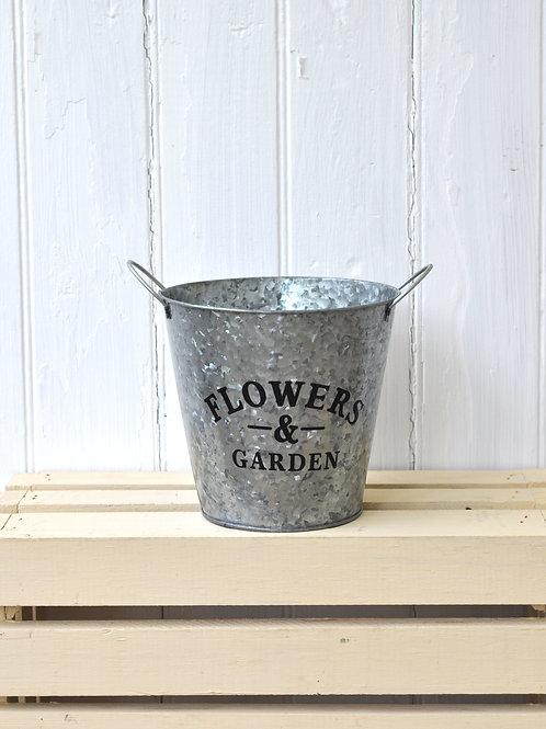 Small Galvanized Planter Tub