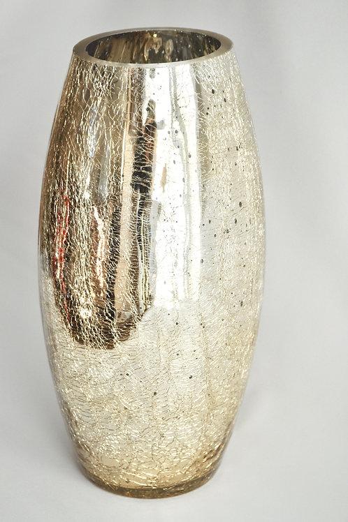Champagne Gold Mercury Glass Vase Tall