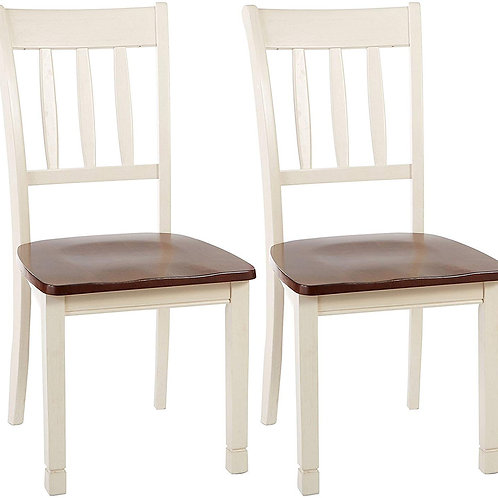 Ivory & Brown Chairs