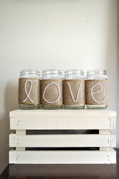 Love Mason Jar Set