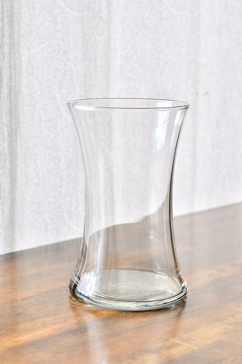 Large Curved Clear Vase
